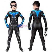 Kids Suit Titans season 2 Nightwing Jumpsuit Cosplay Costume