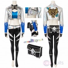 LOL 2020 KDA All Out Akali Costume League Of Legends Cosplay Suit