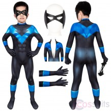 Nightwing Costume For Kids Batman: Under The Red Hood Nightwing Cosplay Jumpsuit