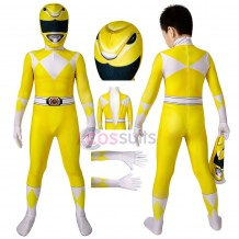 Power Rangers Kids Costume Power Rangers Trini Kwan Yellow Ranger Cosplay Jumpsuit