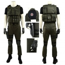 Resident Evil 3 Remake Carlos Oliveira Cosplay Costume For Men