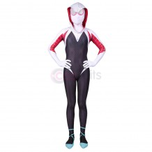 Spider-Gwen Costume For Kids Spiderman: Into The Spider-Verse Gwen Stacy Cosplay Suits