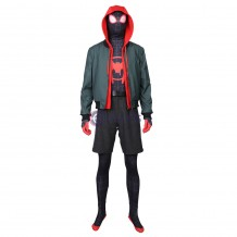Spider Man Into The Spider Verse Cosplay Costumes Miles Morales Suit