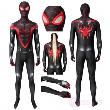 Spiderman Costume Spider Man PS5 Miles Morales Cosplay Jumpsuit