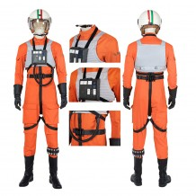 Star Wars Squadrons Pilot Cosplay Costumes Orange Uniform Outfit