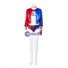 Suicide Squad Harley Quinn Cosplay Costume Top Level
