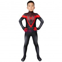 Ultimate Spiderman PS5 Miles Morales Cosplay Costume Spiderman Kids Suits