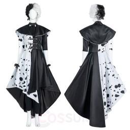 Cruella Cosplay Costume Cruella De Vil Cosplay Dresses