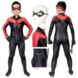 Kids Jumpsuit Teen Titans: The Judas Contract Nightwing Cosplay Costume