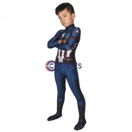 Avengers Endgame Costumes Steven Rogers Captain America Cosplay For Kids