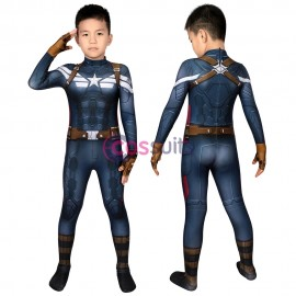 Captain America Kids Costume The Winter Soldier Steve Rogers Cosplay Suits