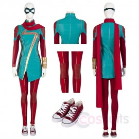 Captain Marvel Cosplay Costume Kamala Khan Jumpsuit For Woman
