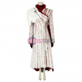 Daenerys Targaryen Cosplay Costume With Shawl Game of Thrones Season 8 Suit