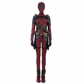 Female Lady Deadpool Cosplay Costume Suit