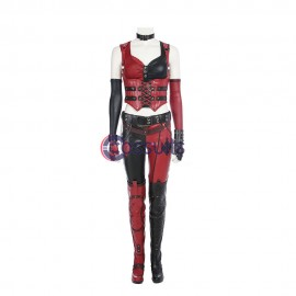 Harley Quinn Cosplay Costume BatMan Arkham City Cosplay Suit