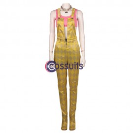 Harley Quinn Cosplay Costume Birds of Prey Yellow Cosplay Suit