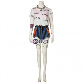 Harley Quinn Costume Birds of Prey Cosplay Easy Use Edition