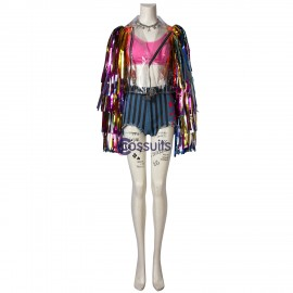 Harley Quinn Costume Birds of Prey Rainbow Cosplay Suit