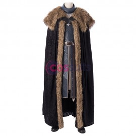 Jon Snow Cosplay Costume Game of Thrones Season 8 King Of The North Cosplay Suit
