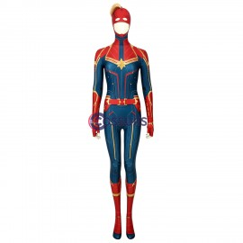 New Captain Marvel Jumpsuit Carol Danvers Cosplay Costume