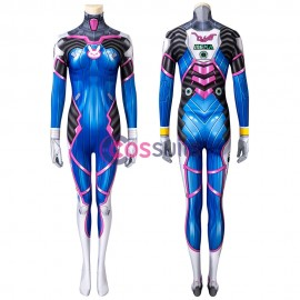 Overwatch OW D.Va DVa Hana Song Cosplay Costume