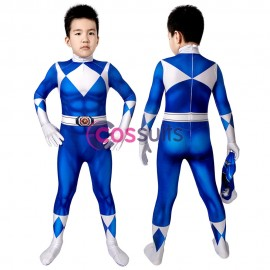 Power Rangers Kids Costume Power Rangers Billy Blue Ranger Cosplay Jumpsuit