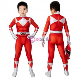 Power Rangers Kids Costume Power Rangers Jason Red Ranger Cosplay Jumpsuit