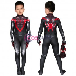 Spider-man Kids Costume Spiderman Miles Morales PS5 Cosplay Suits