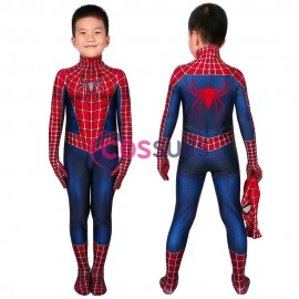 Spider-man Kids Suits Spiderman 2 Tobey Maguire Jumpsuit Cosplay Costume