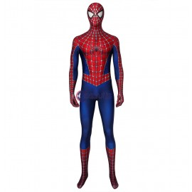 New Spiderman Tobey Maguire Jumpsuit Spiderman Cosplay Costume