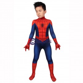 Ultimate Spiderman Season 1 Peter Parker Cosplay Jumpsuit For Kids