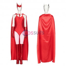 Wanda Vision Cosplay Costume Scarlet Witch Red Cosplay Suit