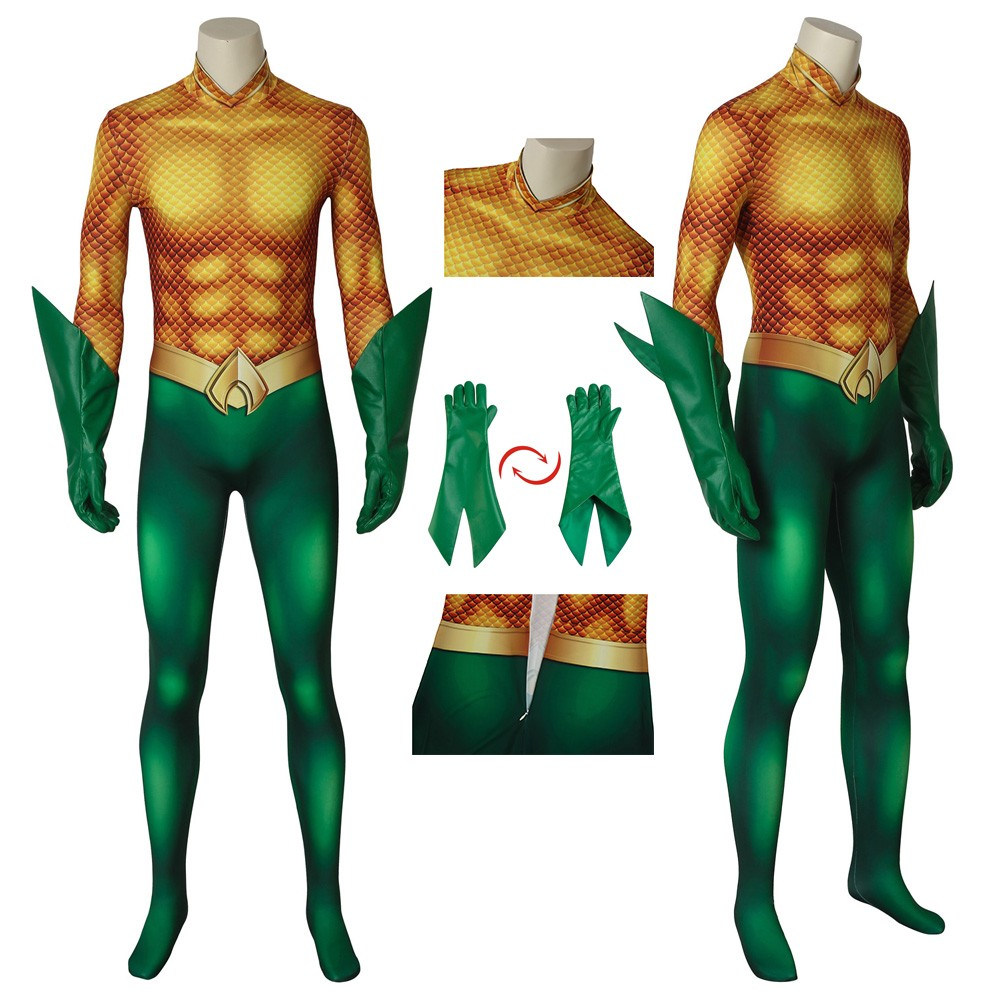 Aquaman Arthur Curry Jumpsuit Cosplay Costume