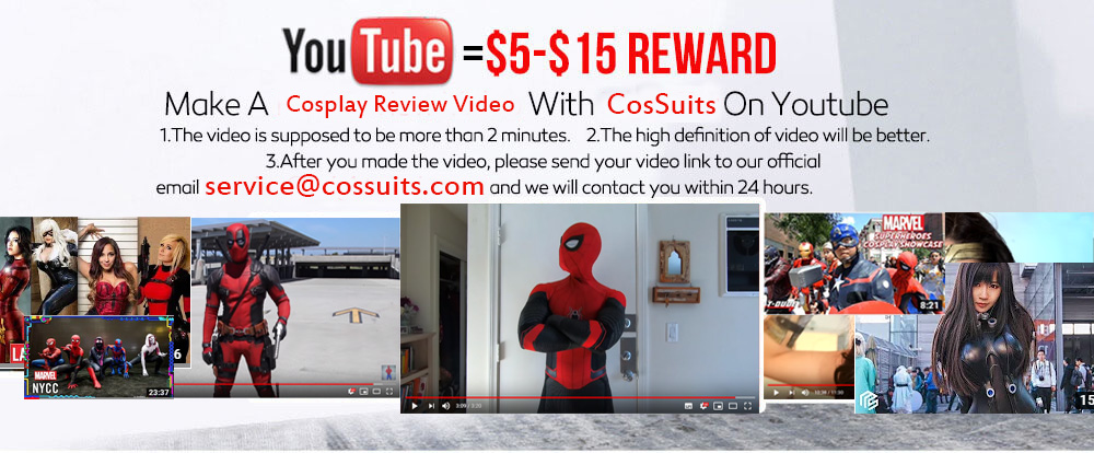 cossuits cosplay video